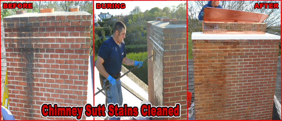 ProLine Chimney Cleaning Black Sutt Stains
