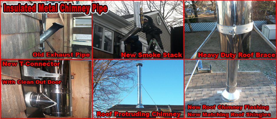 ProLine Insulated Metal Chimney Pipe Installation