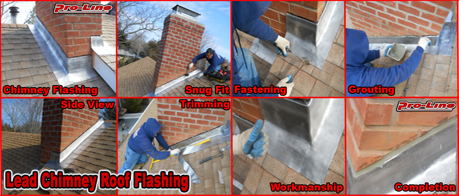ProLine Lead Chimney Roof Flashing Installation