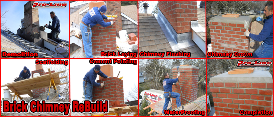 ProLine Masonry Brick Chimney ReBuild Replacement