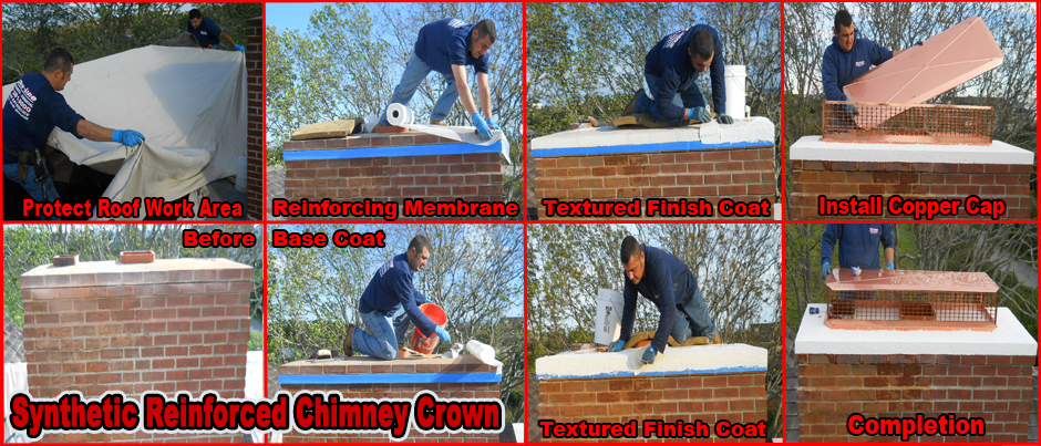 ProLine Synthetic Reinforced Chimney Crown Installation