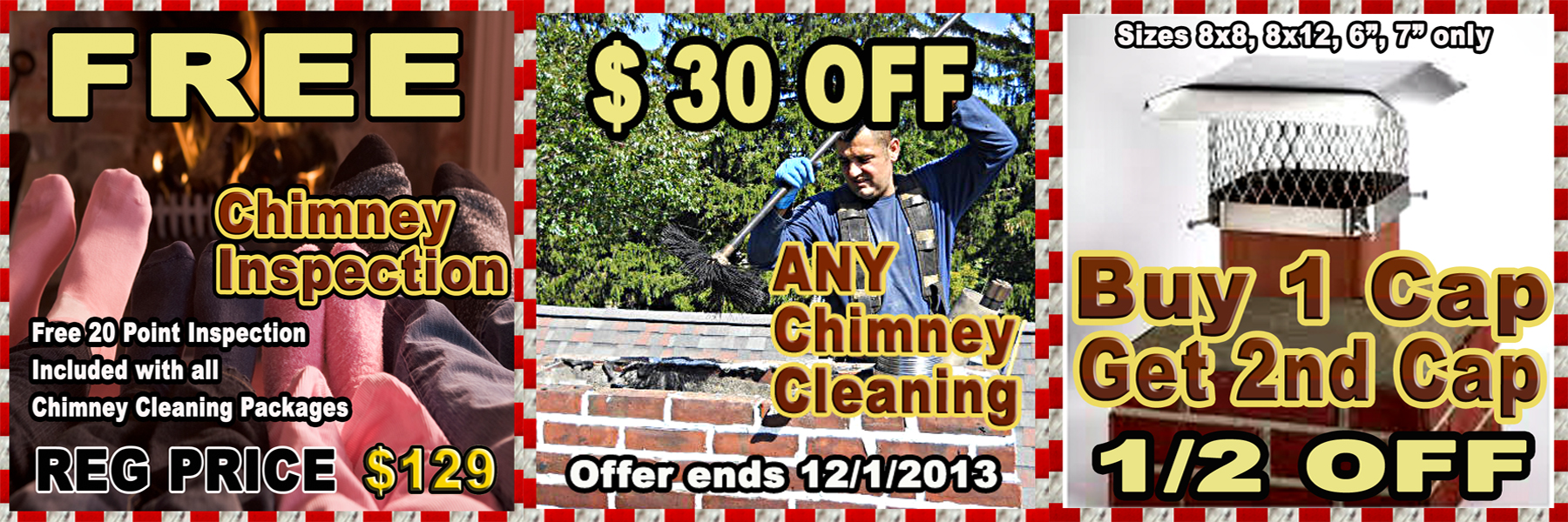 ProLine Chimney Cleaning Chimney Inspection Chimney Cap Coupon